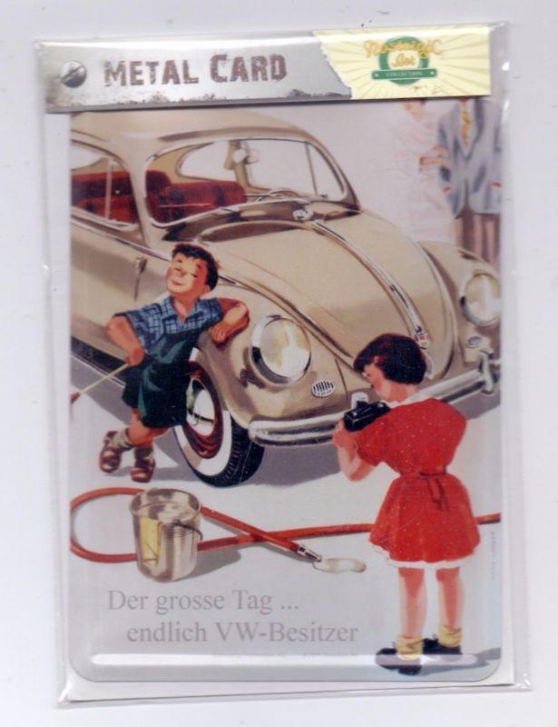 AUTO - VOLKSWAGEN Käfer, Metal Card / Metall-Karte, Original verpackt