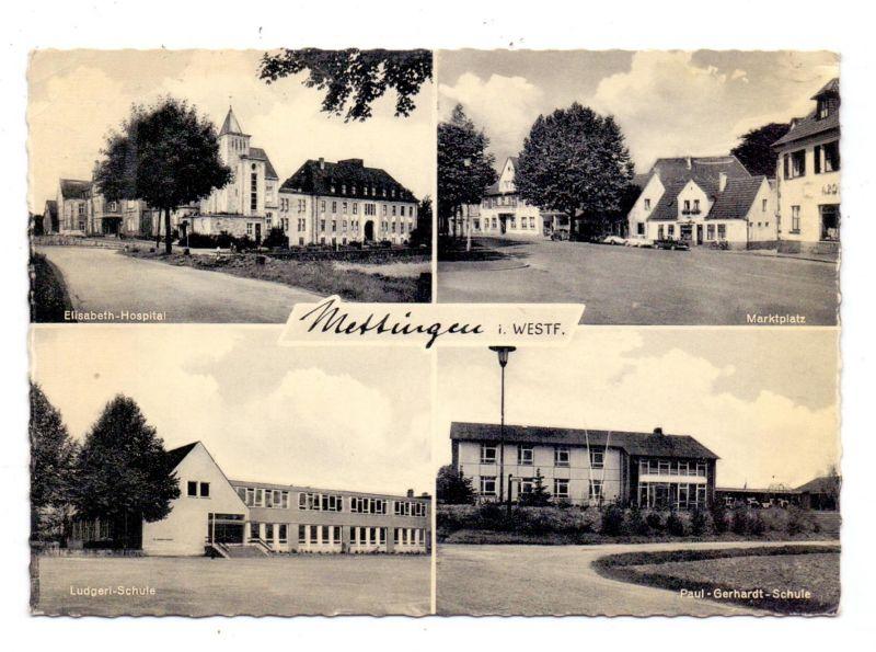 4532 METTINGEN, Elisabeth-Hospital, Ludgeri-Schule, Marktplatz, Paul-Gerhardt-Schule
