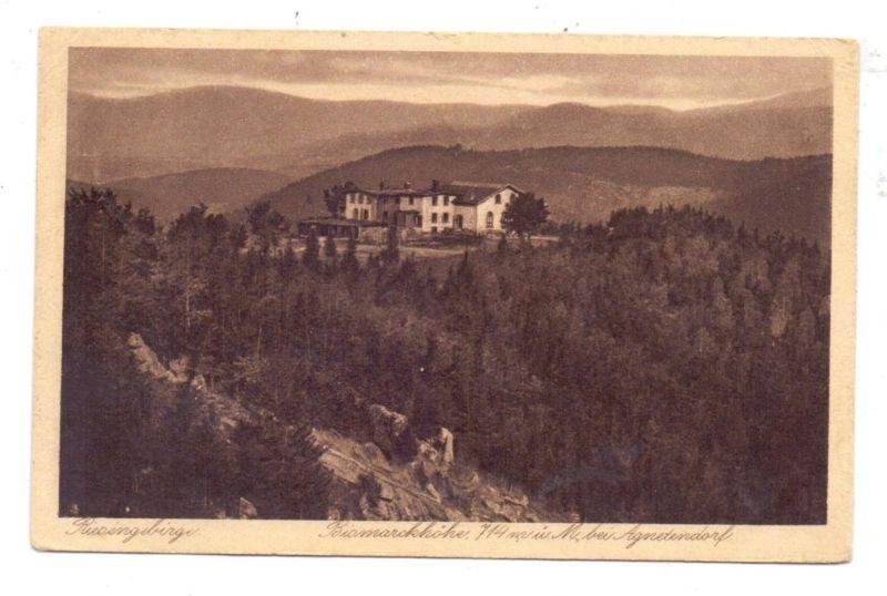NIEDERSCHLESIEN - HIRSCHBERG-AGNETENDORF / JELENA GORA-JAGNIATKOW, Bismarckhöhe, 1928