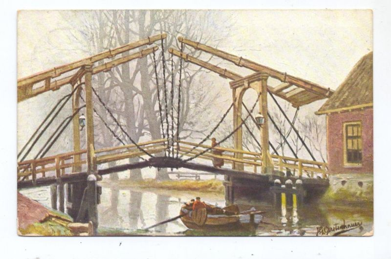 KÜNSTLER / ARTIST - JOHANN GEORG GERSTENHAUER, Brug, 1912