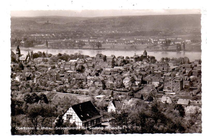 5300 BONN - BEUEL - OBERKASSEL, Gesamtansicht mit Siedlung Plittersdorf