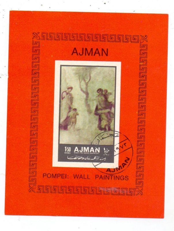 AJMAN, 1972, Pompei, Michel mini sheet 448 B
