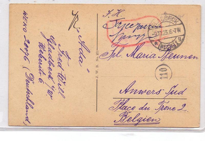 DEUTSCHES REICH, 1923, Barfrankatur Taxe percue, Gladbeck  9.11.1923