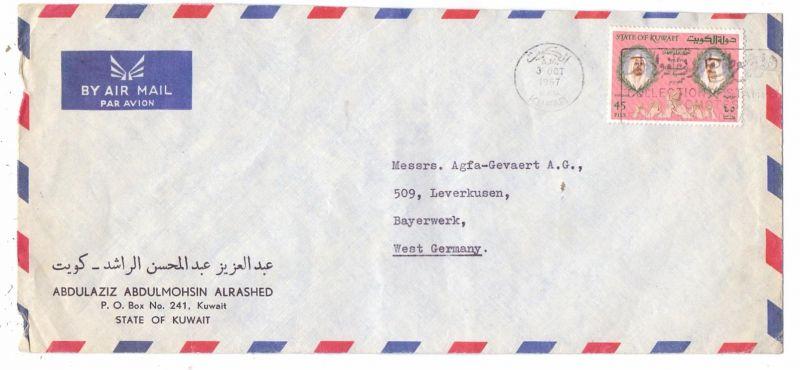 KUWAIT, 1967, Michel 342, Einzelfrankatur