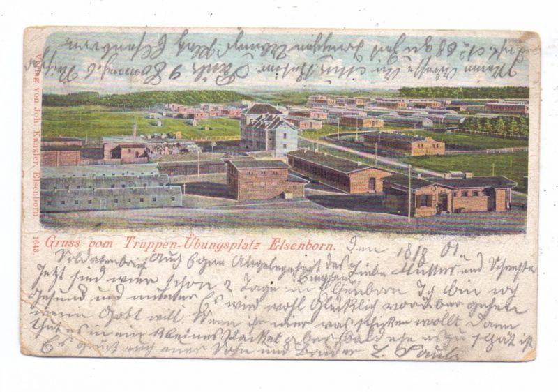 B 4750 BÜTGENBACH - ELSENBORN, Panorama, 1901, Knick, nach Köln-Stammheim gelaufen