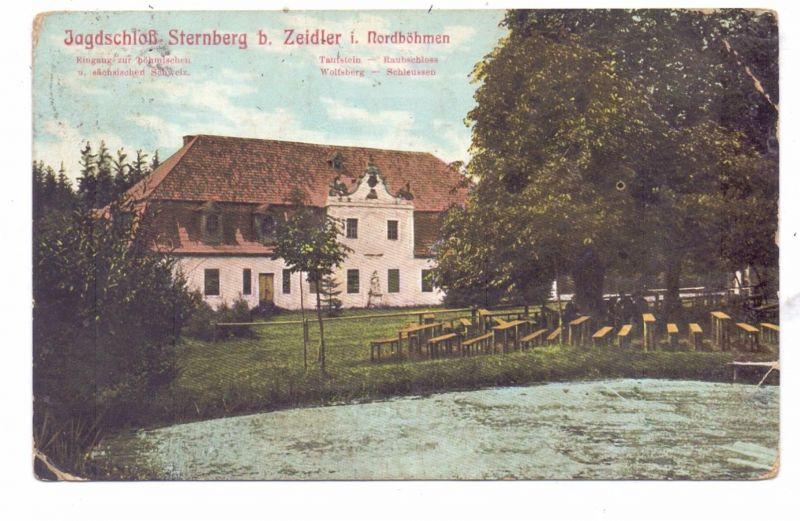BÖHMEN & MÄHREN - ZEIDLER / BRTNIKY, Jagdschloss Sternberg, 1910, Eckmängel