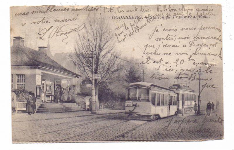5300 BONN - BAD GODESBERG, Strassenbahn-Haltestelle nach Bonn, 1924
