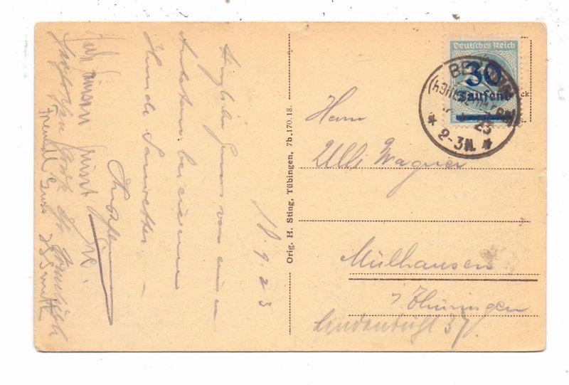 DEUTSCHES REICH, 1923, Michel 285, AK Einzelfrankatur