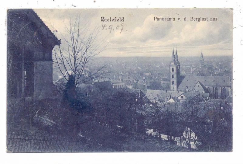 4800 BIELEFELD, Blick von der Berglust aus, 1907