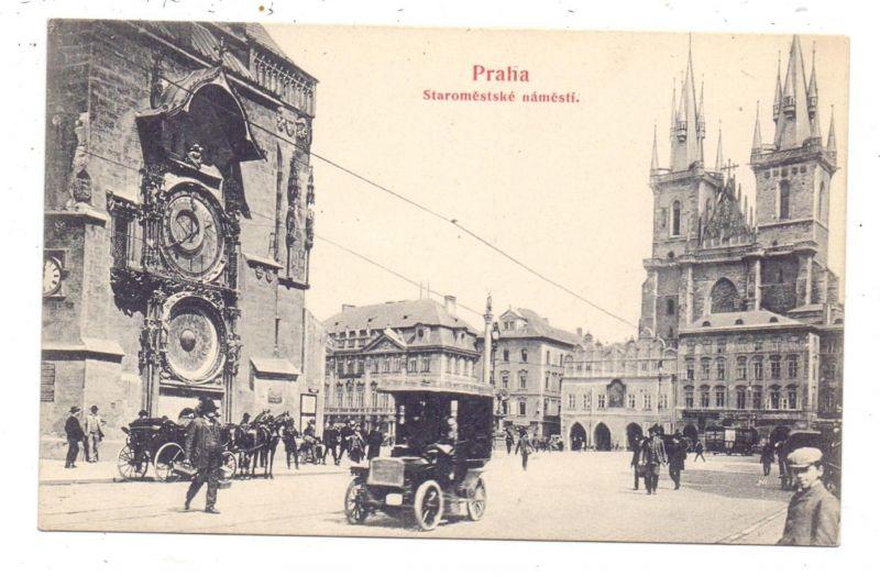 AUTOMOBIL - TAXI, Prag, ca. 1905