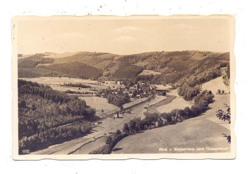 0-9381 AUGUSTUSBURG - HENNERSDORF, Blick von der Kunnersteinbaude
