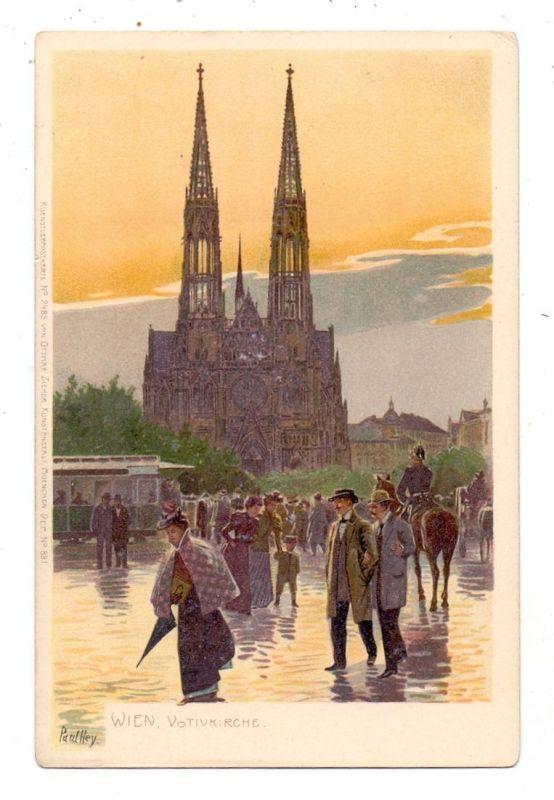KÜNSTLER / ARTIST - PAUL HEY, Wien, Votivkirche, ca. 1905