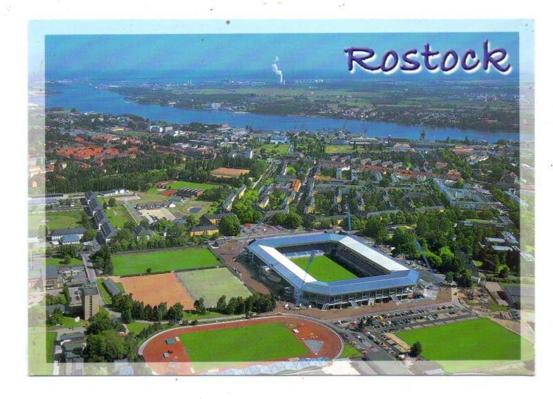 SPORT - FUSSBALL - STADION, Rostock, Luftaufnahme