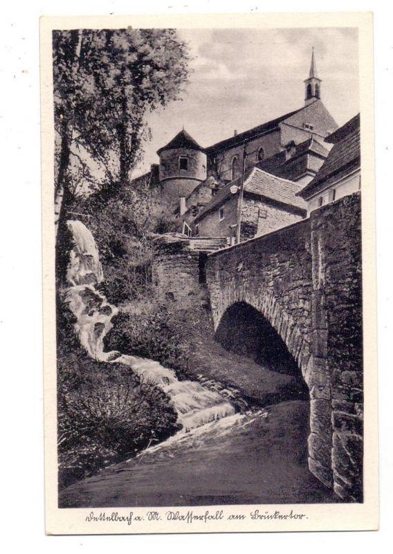 8716 DETTELBACH, Wasserfall am Brückentor, rücks. kl. Klebereste