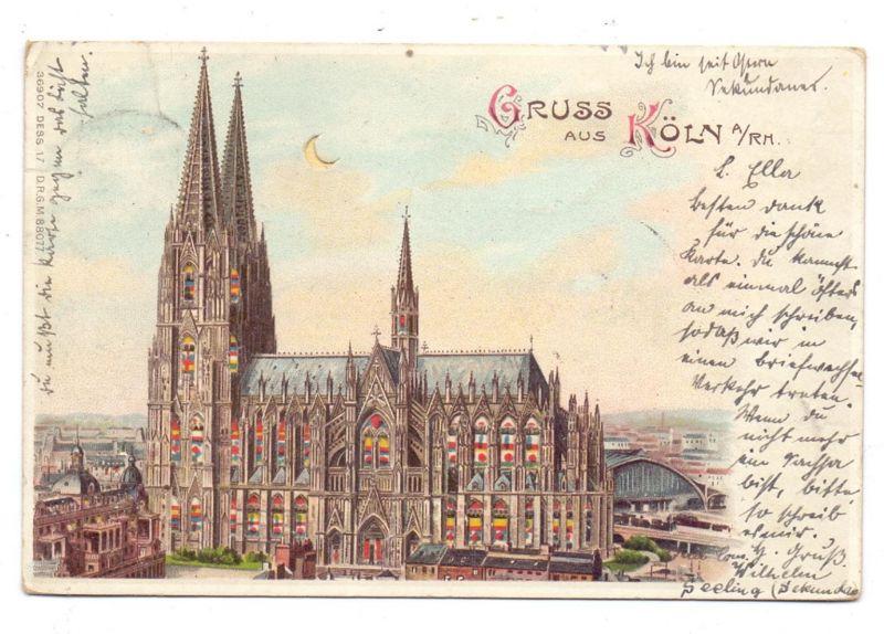 5000 KÖLN, Kölner Dom, 1902, Halt gegen das Licht / hold to light