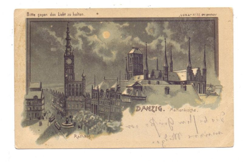 DANZIG - Marienkirche, Halt gegen das Licht, LUNA # 55