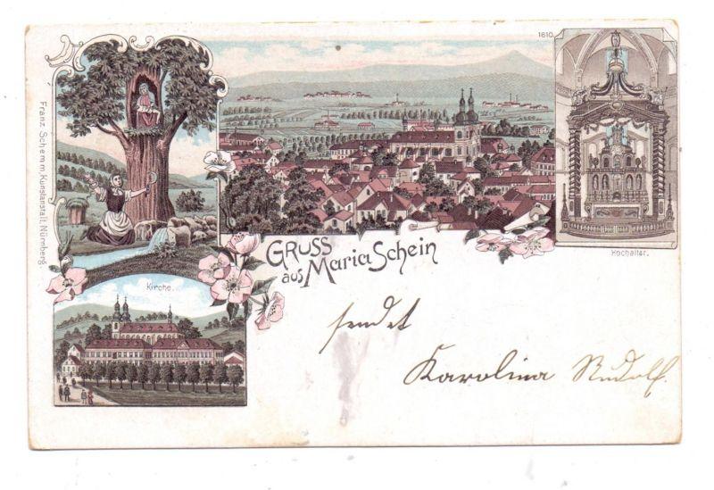 BÖHMEN & MÄHREN - MARIASCHEIN / BOHUSUDOV, Gruss aus Litho, 1900