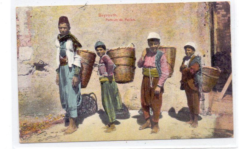LIBANON - BEYROUTH, Porteurs de Paniers
