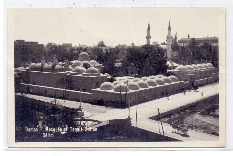 SYRIA / SYRIEN - DAMASKUS, Mosque et Tequie Sultan Selim, 1935, Druckstelle / AF