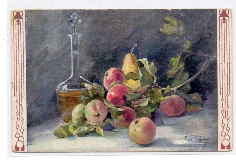 KÜNSTLER / Artist - MARY GOLAY, Stilleben Früchte