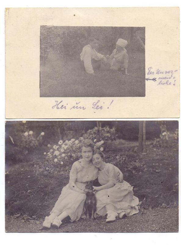 HUNDE - PINSCHER, 2 Photo-AK 1920