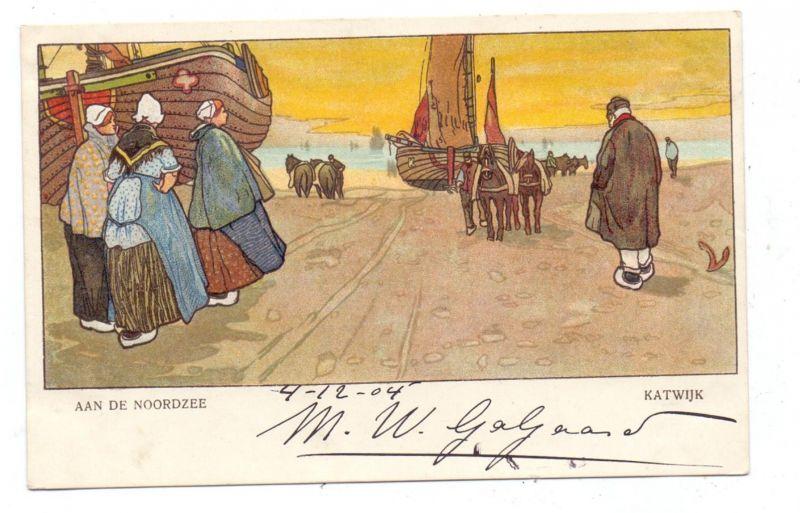 NL - ZUID-HOLLAND - KATWIJK, Aan de Noordzee, 1904