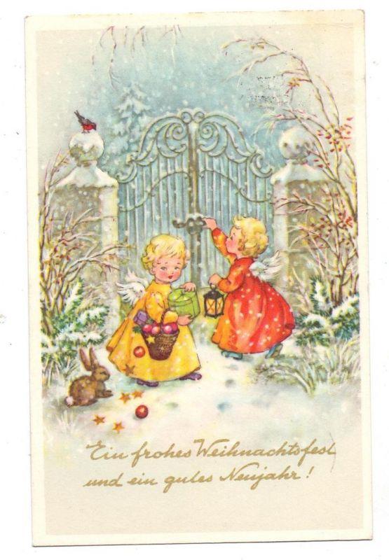 WEIHNACHTEN - Kinder mit Engelsflügeln am Tor