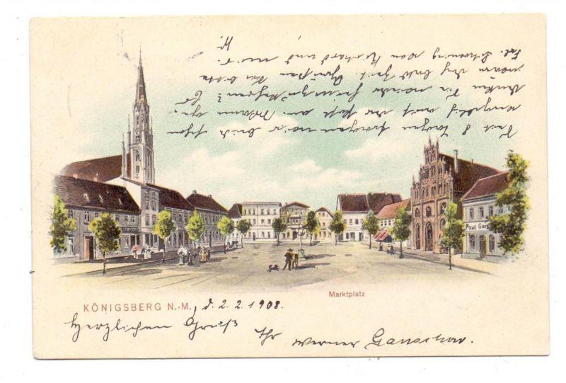 NEUMARK - KÖNIGSBERG / CHOJNA, Lithographie
