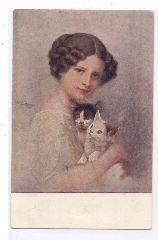 KATZEN / Cats / Chats / Katten / Gatti / Gatos - Künstler-Karte V.Schramm,