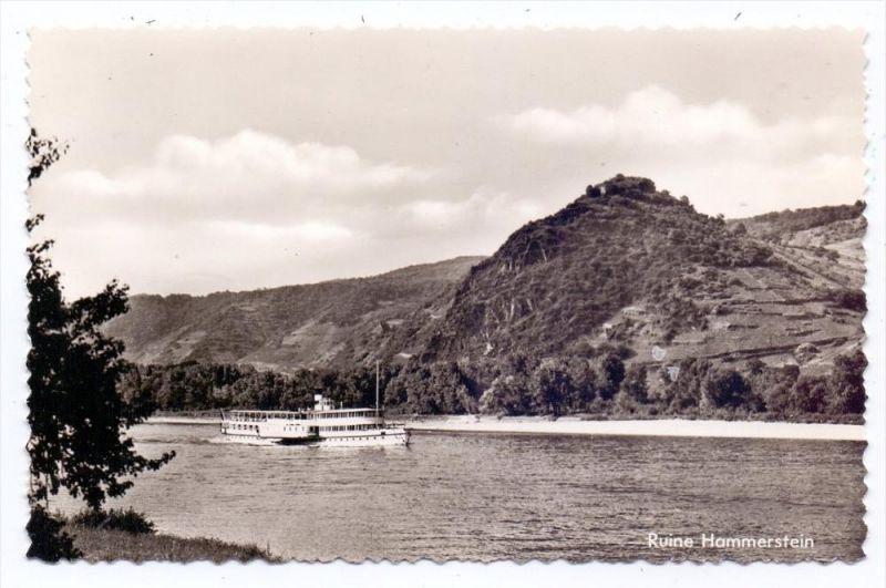 5462 BAD HÖNNINGEN - HAMMERSTEIN, Ruine Hammerstein, Rhein-Dampfer