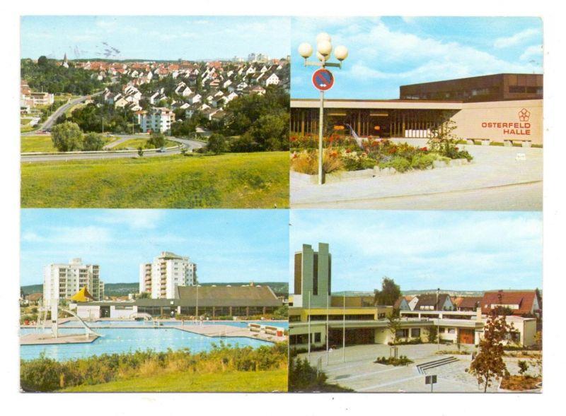 7300 ESSLINGEN - BERKHEIM, Aufstiegstrasse, Osterfeldhalle, Hallenfreibad, Osterfeldkirche- 0