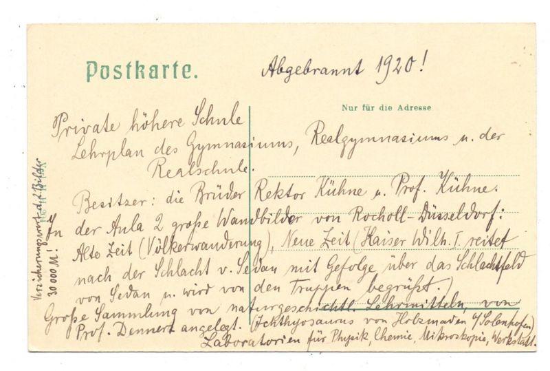 5300 BONN - BAD GODESBERG, Pädagogium mit Sportplatz, 1920 1