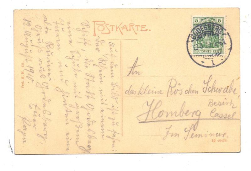 5300 BONN - BAD GODESBERG, Pädagogium von der Rheinseite, Anleger Köln-Düsseldorfer, 1910 1