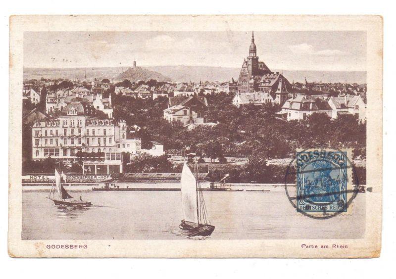 5300 BONN - BAD GODESBERG, Pädagogium und Hotel Godesberger Hof, 1921