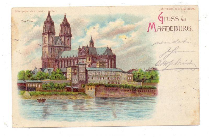 0-3000 MAGDEBURG, Domansicht, 1899, Halt gegen das Licht / Hold to Light, METEOR