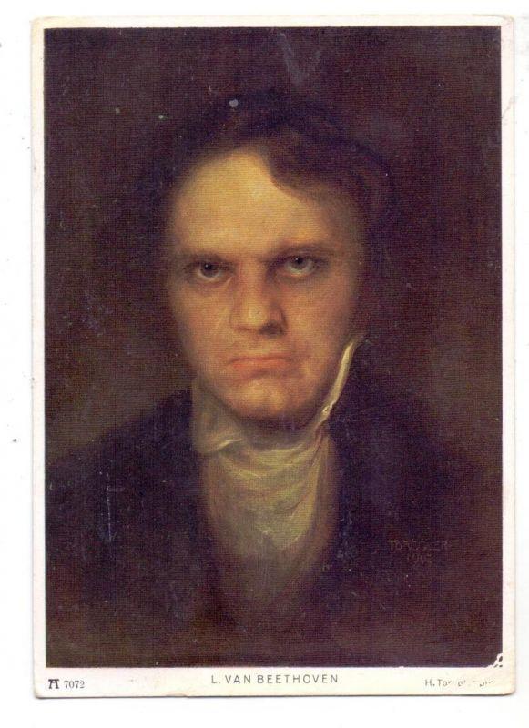 MUSIK - KOMPONISTEN, Ludwig van Beethoven, Künstler-Karte