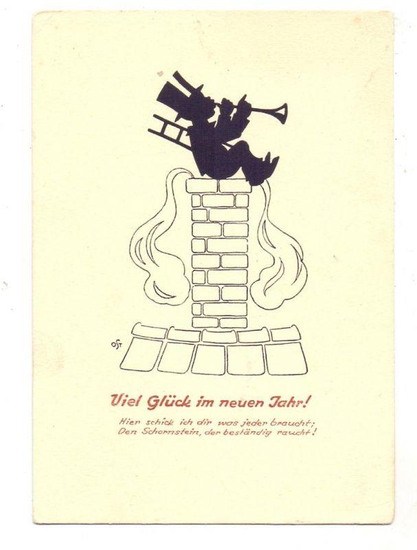 BERUFE - SCHORNSTEINFEGER / Chimney Sweeper / Ramoneur, Schattenbild