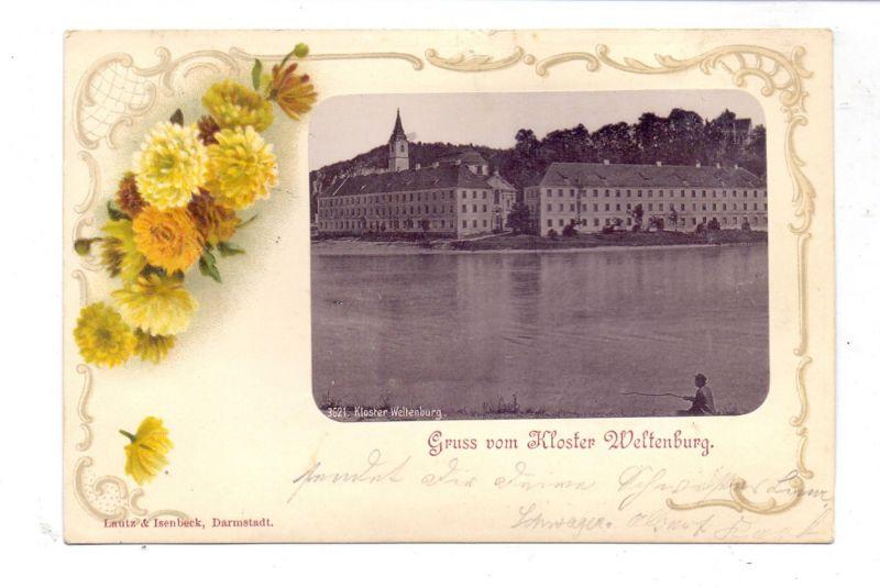 8420 KELHEIM - WELTENBURG, Kloster Weltenburg, Passepartout-Karte 1900 0