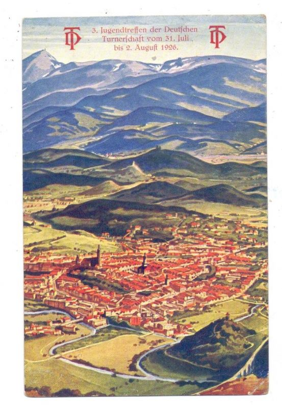 NIEDERSCHLESIEN - HIRSCHBERG / JELENA GORA, 3. Jugendtreffen  der Deutschen Turnerschaft, 1926, kl. Druckstelle 0