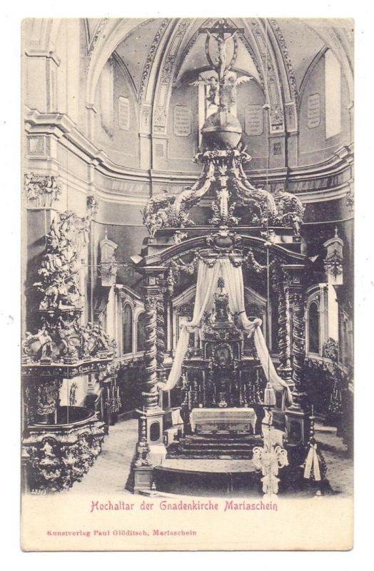 BÖHMEN & MÄHREN - MARIASCHEIN / BOHOSUDOV, Hochaltar der Gnadenkirche, ca. 1905 0