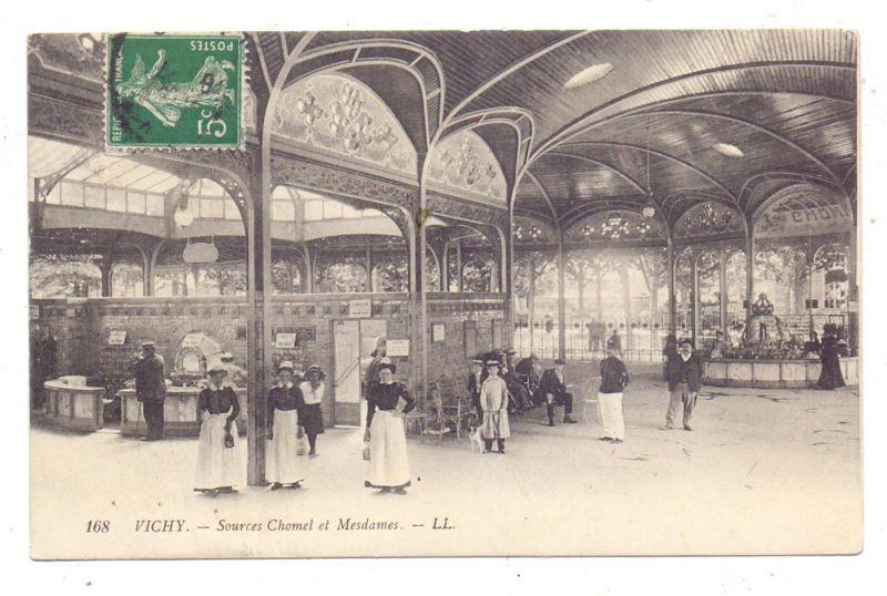 F 03200 VICHY, Sources  Chomel et Mesdames, 1911, Louis Levy # 168