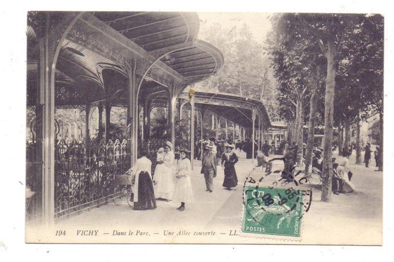 F 03200 VICHY, Dans le Parc, 1908, Louis Levy # 194