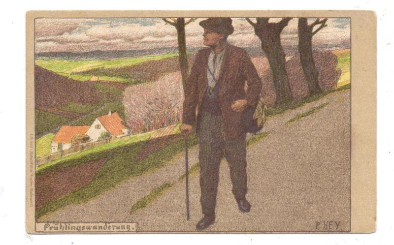 KÜNSTLER - ARTIST - PAUL HEY - Lithographie,