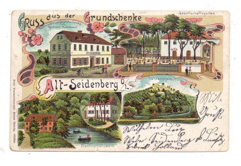 NIEDERSCHLESIEN - SCHÖNBERG - ALT-SEIDENBERG / SULIKOW-STAY ZAWIDOW, Litho, Gruss aus der Grundschenke
