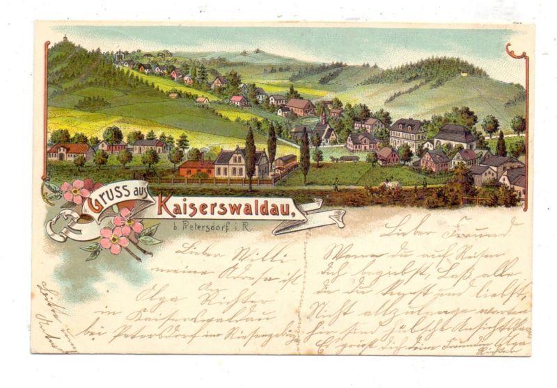 NIEDER-SCHLESIEN - KAISERSWALDAU / OKMIANY, Lithographie 1900, Gesamtansicht