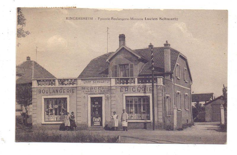 F 68260 KINGERSHEIM, Epicerie-Boulangerie-Mercerie Lucien Schwartz, 1936