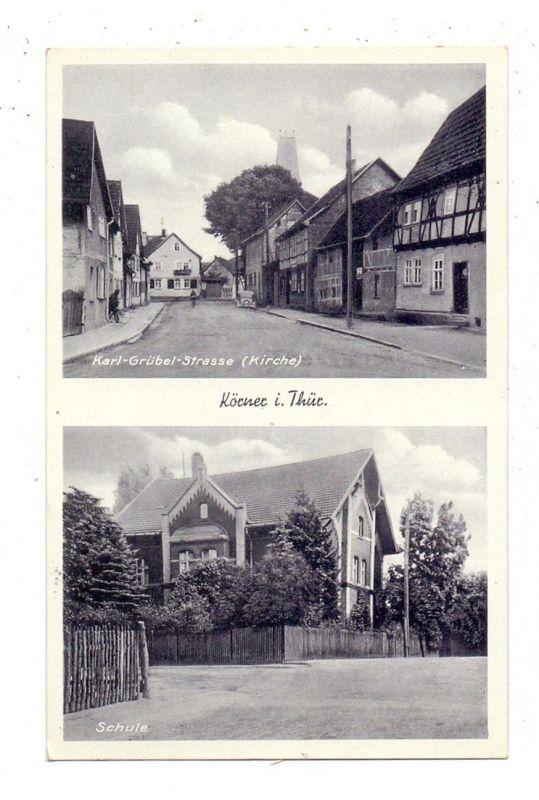 0-5704 KÖRNER, Karl-Grübel-Strasse (Kirche), Schule, 1941