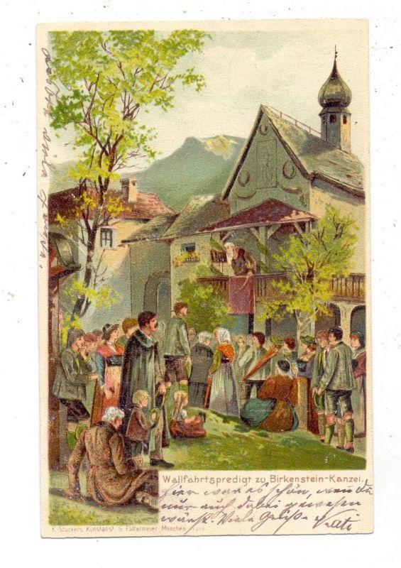 8165 FISCHBACHAU, Wallfahrtspredigt zu Birkenstein-Kanzel, 1900