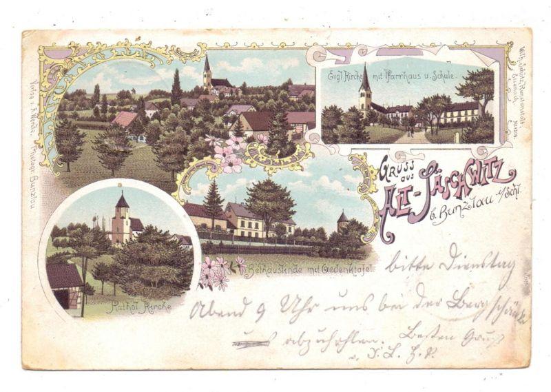 NIEDER-SCHLESIEN - BRESLAU / WROCLAW - ALT-SÄSCHWITZ, Lithographie 1899