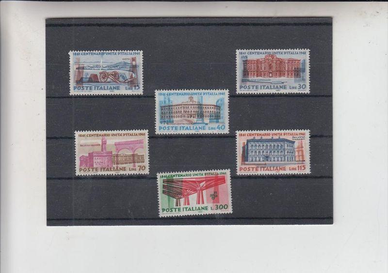 ITALIEN, 1961, 100 Jahrfeier Italien, 1107 - 1112 postfrisch
